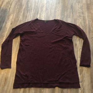 Babaton With Linen Maroon Colored Sweater size S